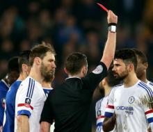 Диего Коста пропустит один матч из-за неприличного жеста